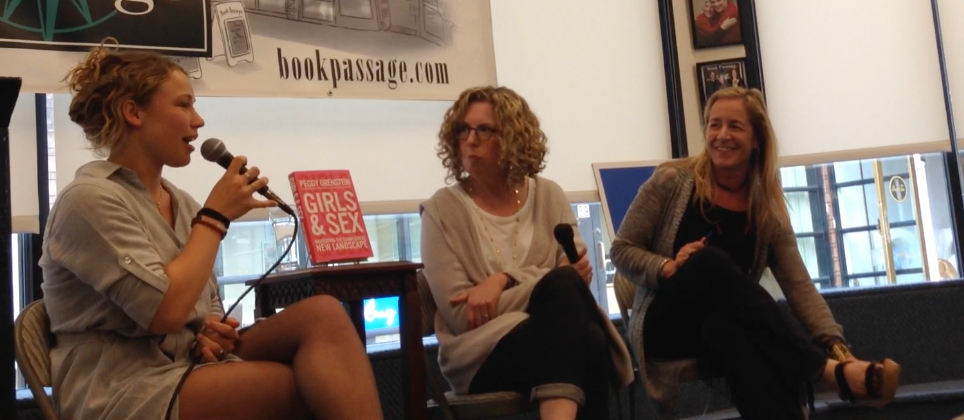 "Olivia Fisher-Smith, Peggy Orenstein, and Charis Denison discuss ""Girls & Sex"" at Book Passage, Corte Madera, California"
